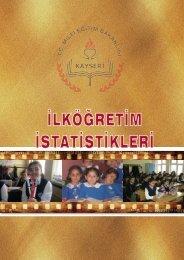 2010-2011 öğretim yılı ilköğretim istatistikleri (resmi+ ... - Kayseri Arge