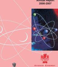 Atomic Energy Regulatory Board Annual Report 2006-2007