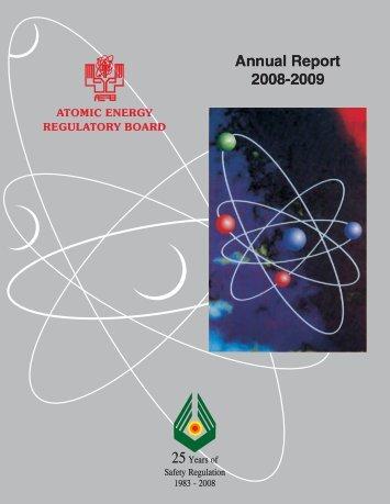 Atomic Energy Regulatory Board Annual report 2008-2009