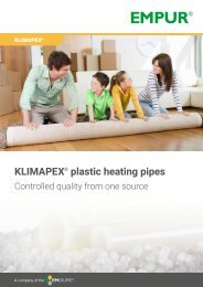KLIMAPEX plastic heating pipes en