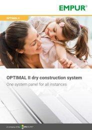 Optimal II dry construction system en