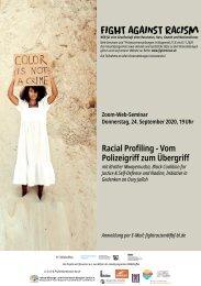 Web-Seminar: Racial Profiling - Vom Polizeigriff zum Übergriff