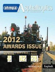 ASPHALTopics | Spring 2013 | VOL 26 | NO 1