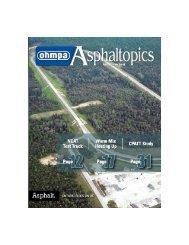ASPHALTopics | Fall 2013 | VOL 26 | NO 3
