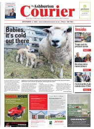 Ashburton Courier: September 03, 2020
