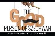 Good Person of Szechwan Production Program