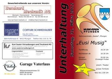 """Eusi Musig"" Samstag, 31. März 2012 - Musikverein Pfungen"