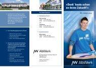 Ausbildungsflyer - Alb-Elektrizitaetswerk Geislingen-Steige eG