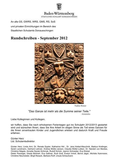 Rundschreiben - September 2012