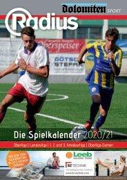 Fußball Spielkalender 2020/21