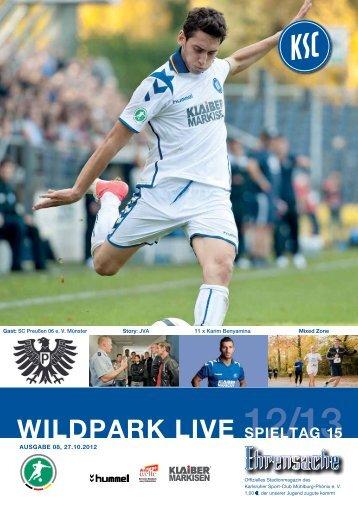 Stadionzeitung 15. Spieltag (KSC - Preußen Münster) - Karlsruher SC