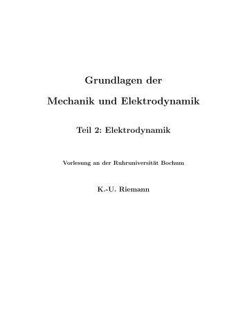 Grundlagen der Mechanik und Elektrodynamik