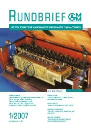 GAMM Rundbrief 2007/Heft 1