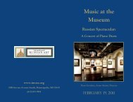 Music at the Museum Russian Spectacular: A Concert of Piano Duets