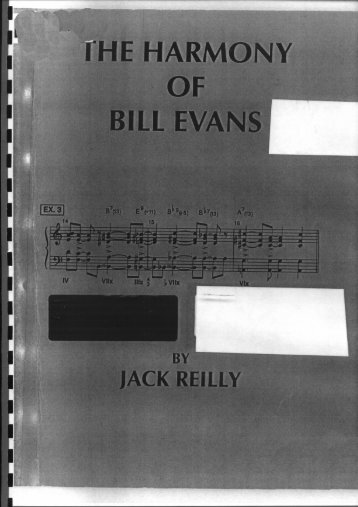 The Harmony Of Bill Evans (Piano Score) - Stefano Brondi