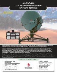 AN/TSC-168 TDC Quad-Band Dual Hub SATCOM Terminal - Narda