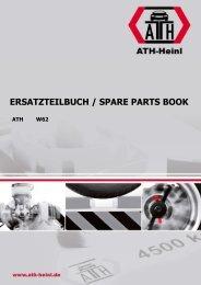 ATH-Heinl ERSATZTEILBUCH SPARE PARTS BOOK W62
