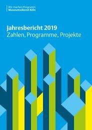 Museumsdienst Köln Jahresbericht 2019