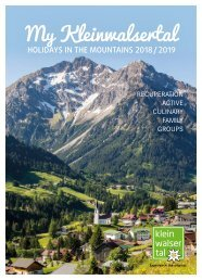 Mein Kleinwalsertal - HOLIDAYS IN THE MOUNTAINS 2018/2019
