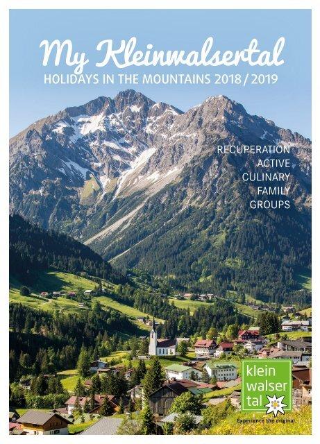 Mein Kleinwalsertal - HOLIDAYS IN THE MOUNTAINS 2018/2019