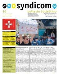syndicom Bulletin / bulletin / Bollettino 16