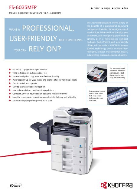 KYOCERA ECOSYS FS-6025MFP WINDOWS DRIVER DOWNLOAD