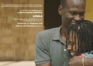 Opening 5. Afrika-Filmtage Wuppertal, Auftaktfilm: LUSALA