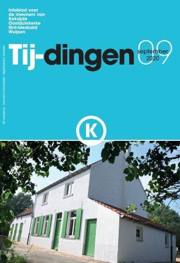 Infoblad Tij-dingen, editie september 2020
