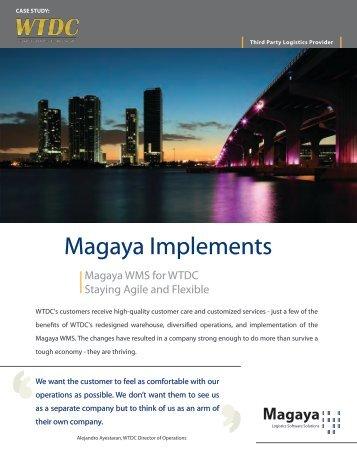 AT A GLANCE - Magaya logistics software.