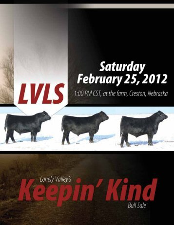 keepin' kind - Lonely Valley's Bull Sale