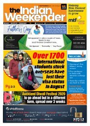 The Indian Weekender, Friday September 4 2020