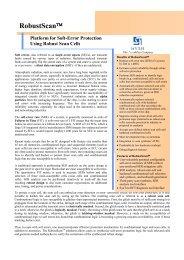 RobustScan™ Platform for Soft-Error Protection Using ... - Syntest
