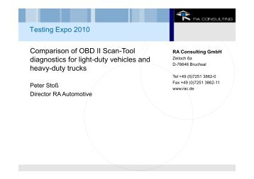 Comparison of OBD II Scan-Tool diagnostics for light-duty vehicles ...