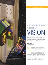 Auto Manufacturing Focuses on Vision - Marposs