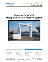 Rapiscan Eagle C02 Occupied Vehicle Inspection System - ITT-Kubba