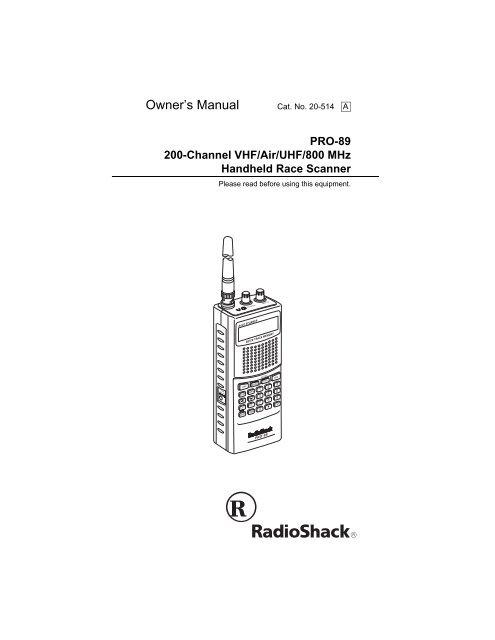 Radio Shack Pro-89 - TextFiles com