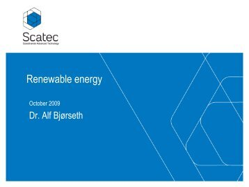 5. Renewable Energy - Alf Bjorseth - MIEMA
