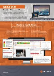 ACOEM NEST i4.0 Predictive Maintenance Software brochure