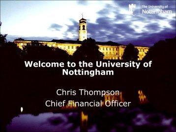 Welcome to the University of Nottingham Chris ... - PraxisUnico