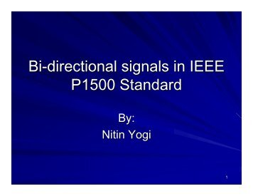 IEEE P1500 does not support bidirectional terminals, hence no ...