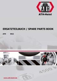 ATH-Heinl ERSATZTEILBUCH SPARE PARTS BOOK W22