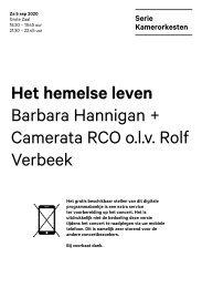 2020 09 05 Barabara Hannigan + Camerata RCO