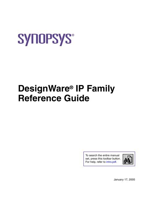 DesignWare IP Family Quick Reference Guide