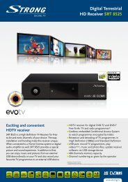 Digital Terrestrial HD Receiver SRT 8525 - STRONG Digital TV
