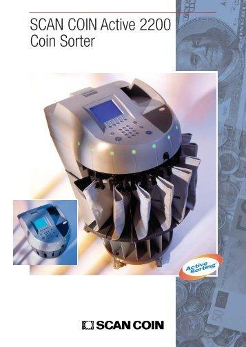 SCAN COIN Active 2200 Coin Sorter - Financial Equipment Company