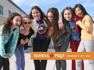 Sandia Prep Viewbook : 2021 - 2022