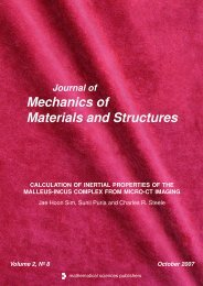Mechanics of Materials and Structures - MSP