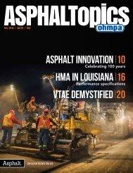 ASPHALTopics | Fall 2015 | VOL 28 | NO 3