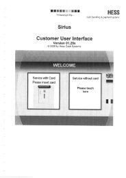 Page 1 H ESS cash handling Iâ payment systems Sirlus Customer ...