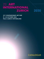 Exhibition Catalogue of Art International Zurich 2020 - Contemporary Art Fair - Zurich, Switzerland